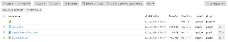 Archivo Instalación Hosting