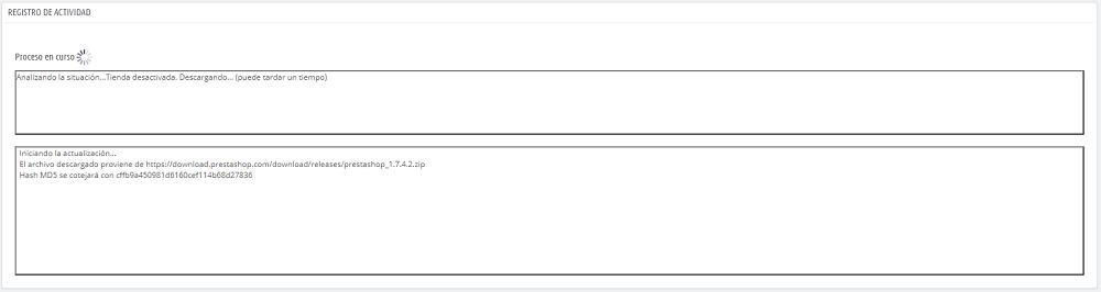 Proceso actualización a Prestashop 1.7