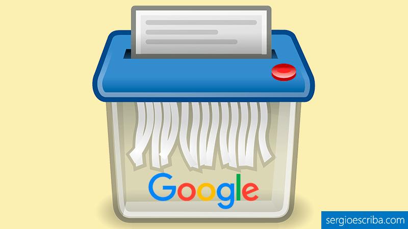 Eliminar o desindexar URL del índice de Google