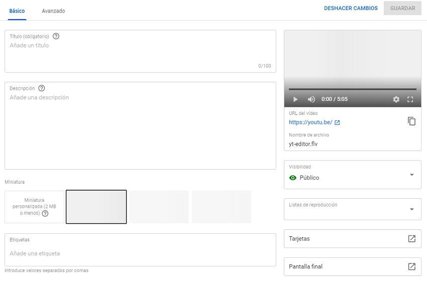 Edición de vídeo de Youtube para estrategia SEO