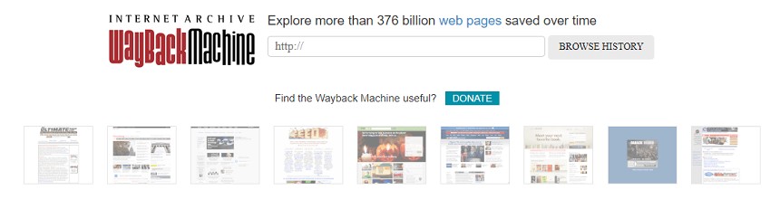 Weyback Machine - Archive.org