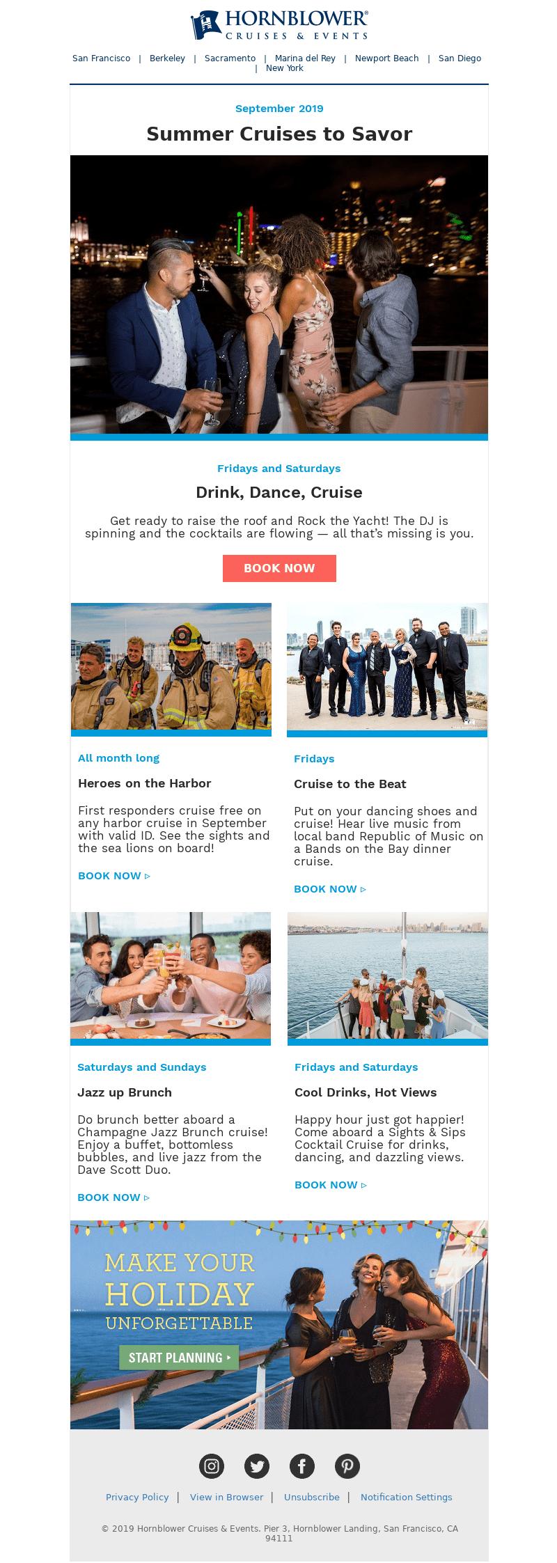 ejemplo email marketing para dar a conocer eventos