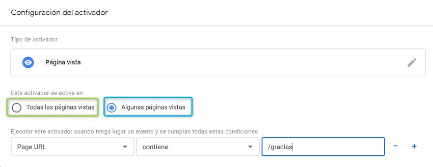 Configuración del píxel de facebook en páginas vistas